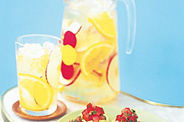 This past weekend was gorgeous and the perfect weather for white wine sangria! Easy recipe:  1 bottle white wine  1 cup orange juice  2/3 cup sugar  1 12oz bottle ginger ale  various yummy fruit  mix items together and put in your fridge for 1 hour. Serve. YUM!