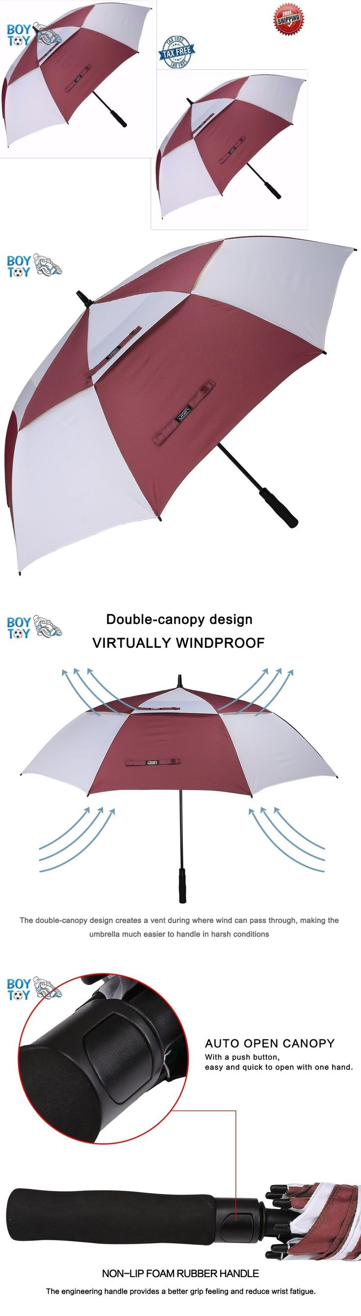 Golf Umbrellas 18933: Automatic Open Golf Umbrella Extra Large Oversize Double Canopy Waterproof Wine -> BUY IT NOW ONLY: $32.49 on eBay!