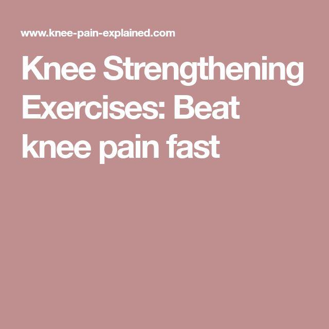 Knee Strengthening Exercises: Beat knee pain fast