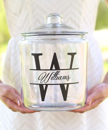 Another great find on #zulily! Initial & Name Personalized Cookie Jar #zulilyfinds