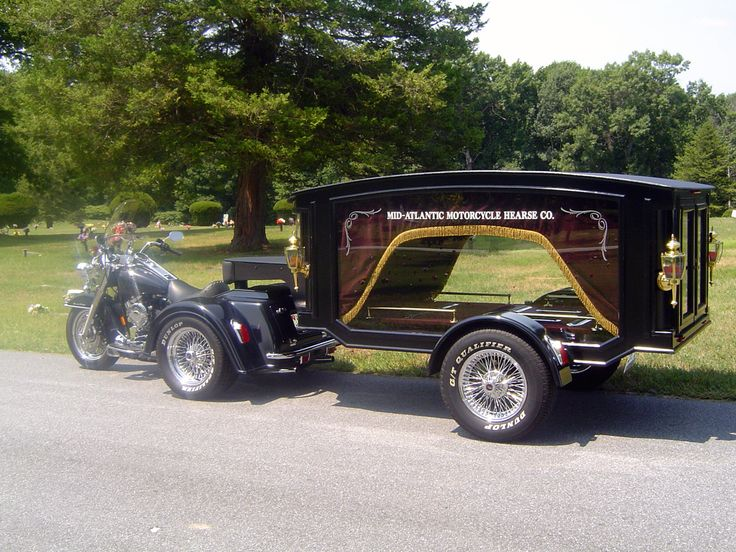 motorcycle hearse! We just had my Uncle Funeral and he was in one similar to this one. It was awesome.