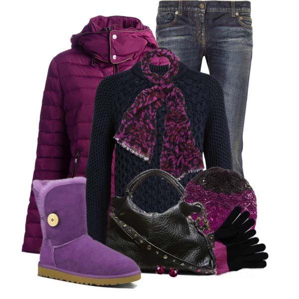 UGG Women's Sheepskin Bailey Button Purple Mini Boots # ...