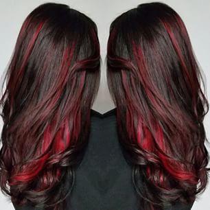 Remarkable 25 Best Ideas About Peekaboo Highlights On Pinterest Peekaboo Hairstyle Inspiration Daily Dogsangcom