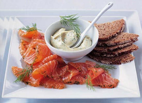 Gravlax with Sweet Mustard and Dill Mayonnaise | Recipe