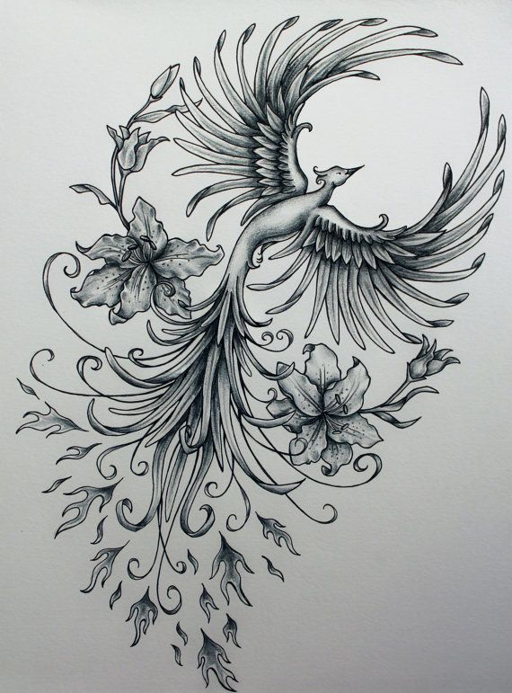 This is seriously gorgeous! I've been looking for a tattoo idea for a Phoenix and I think this may be it!!