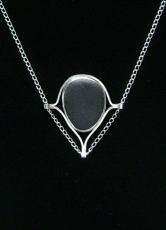 Sea Glass Jewelry  Sterling Rare Black English by SignetureLine, $110.00