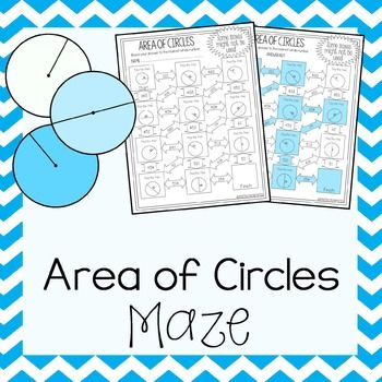 This is a maze composed of 11 circles that students must find the area of. Some circles have a radius while others have a diameter. It is a self-checking worksheet that allows students to strengthen their skills at calculating area of circles.Important InformationThis maze works whether you use 3.14 or the pi key for pi.