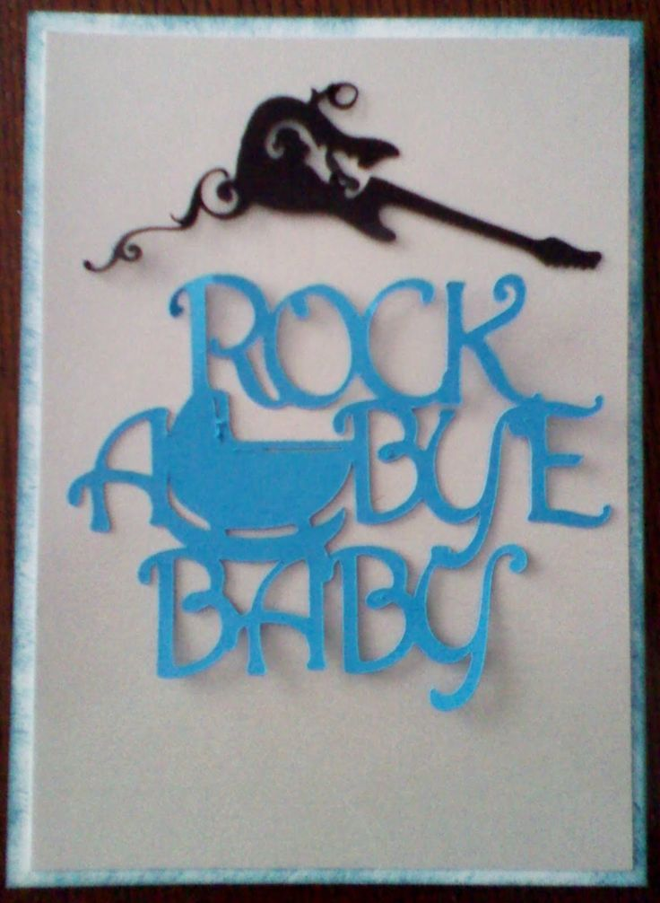 rock and roll theme for a baby shower | used the Quarter Note Cartridge for the Guitar.