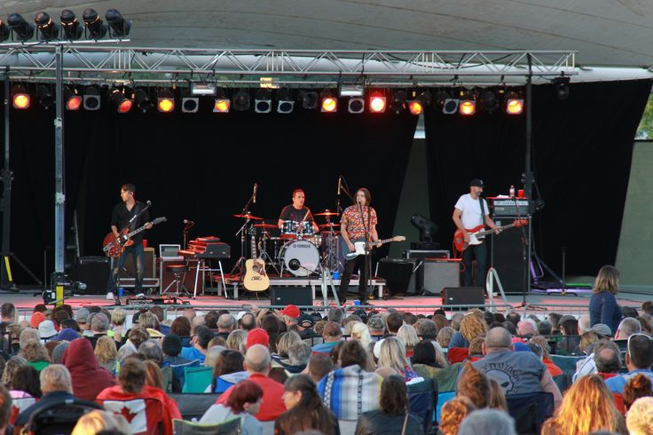 54-40 brought over 7,500 people to Del Crary Park on July 9, 2014 at Peterborough Musicfest