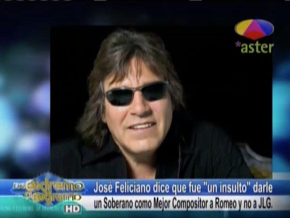 La Farándula Extrema: José Feliciano Dice Fue Un Insulto Darle Un Soberano A Romeo Como Compositor Y No A Juan Luis Guerra