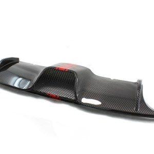 Carbon fiber diffuser with abarth stripe