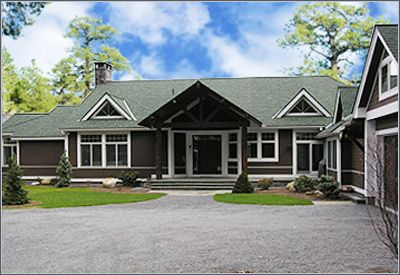 Ranch style houses are traditionally one story with a low for Low pitch roof house plans