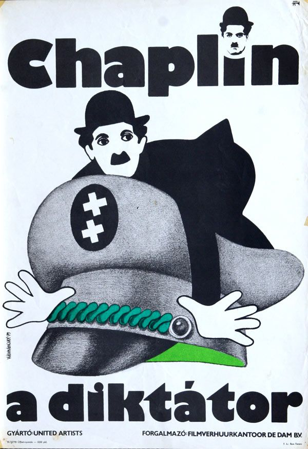"A diktátor (1940) ""The Great Dictator""  Director: Charles Chaplin Hungarian…"