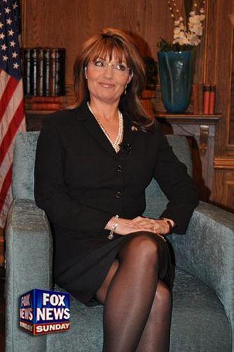 Sarah Palin Pantyhose Legs 12