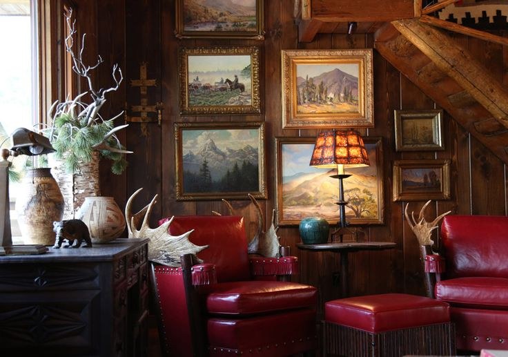 High-Castle | Idyllwild, CA. - 1928 Hunting Lodge w/Clark Gable in Residence - Cheryl Brantner Design | Photographer: David J. Dowling