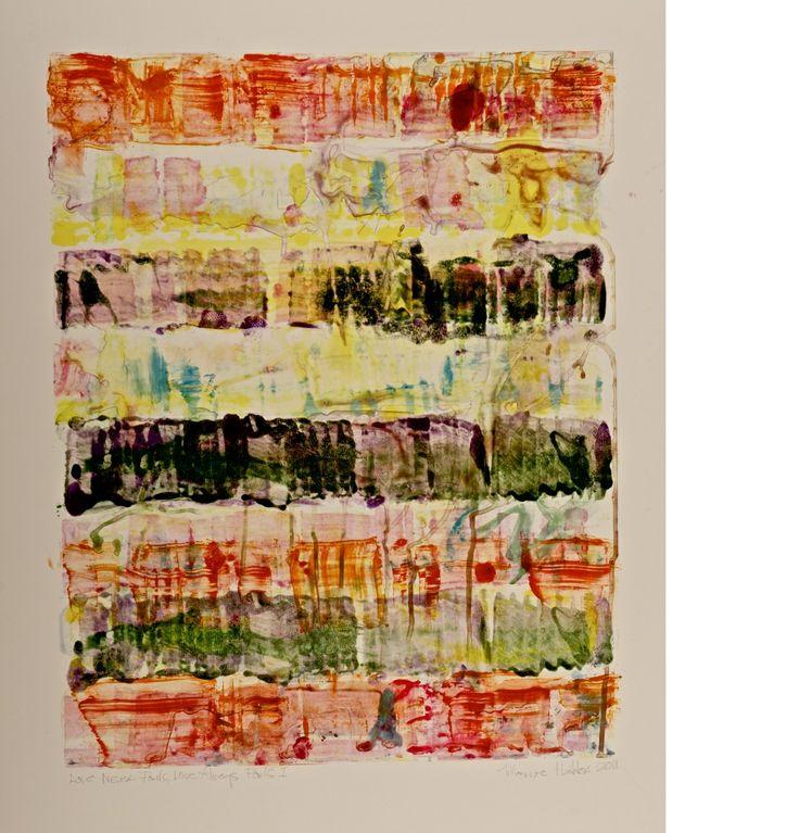 Monroe Hodder | Love Never Fails, Love Always Fails I | Watercolour & Oil Monotype | 30 x 25 inches | £2,500