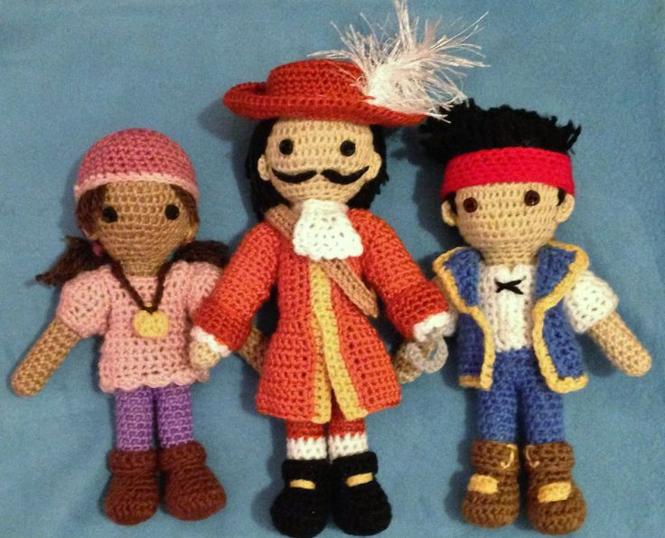Quot Jake And The Neverland Pirates Quot Amigurumi Izzy Captain