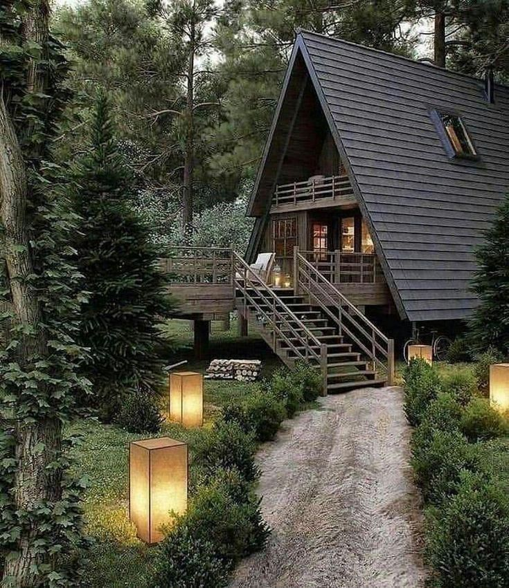 Aframe Aframeinterior In 2020 Forest House A Frame Cabin Cabin Homes