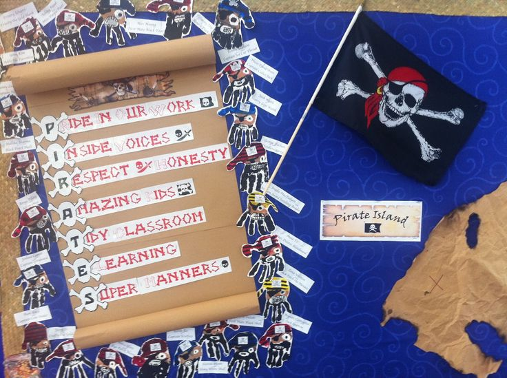 pirate themed classroom | Kids with a View: Pirates Classroom Treaty