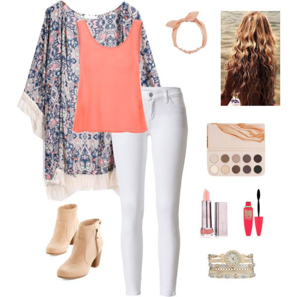 Simple Day In Spring by peculiarsisters on Polyvore featuring Glamorous, maurices, Arizona and Maybelline