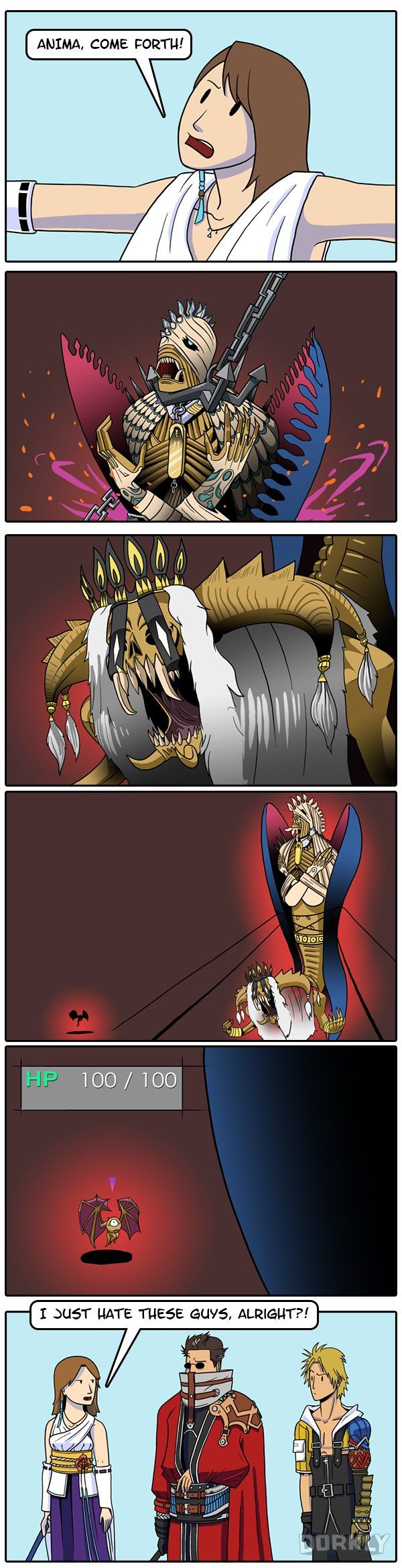 """""""Just a Reminder of How We'll All Probably Use Summons in the New Final Fantasy"""" #dorkly #geek #finalfantasy"""