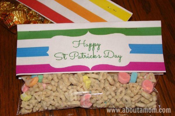 Free St Patrick's Day Treat Bag Printables