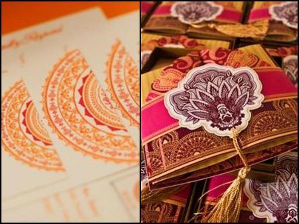 Wedding Cards Inspired From Mehendi Designs. #Wedding #WomenTriangle www.womentriangle.com