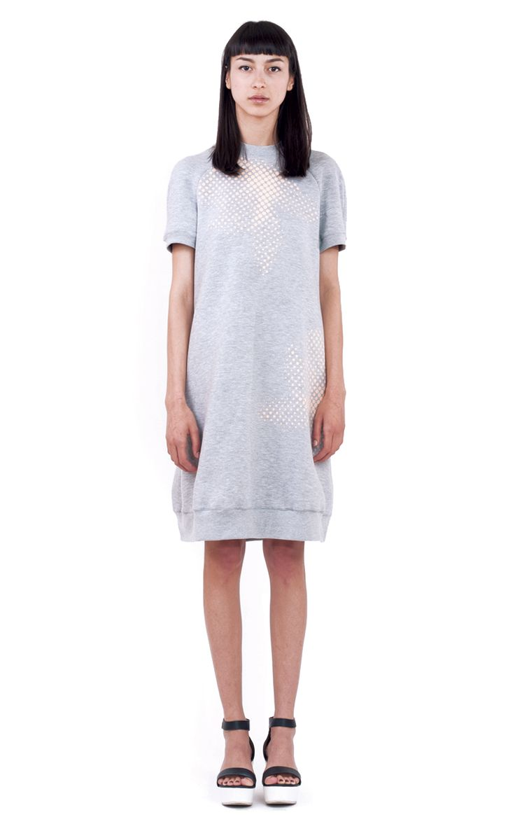 turtle grey dress front