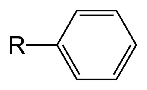 The phenyl functional group is a hydrocarbon functional group derived from benzene.