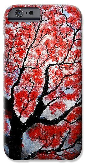 Spring IPhone 6s Case Printed with Fine Art spray painting image Spring by Nandor Molnar (When you visit the Shop, change the orientation, background color and image size as you wish)