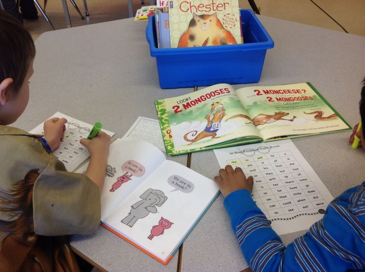 Using a chart of the 50 most common sight words in the English language, students select a book of their choice and begin on a hunt to find as many sight words as possible. Challenge students to get 5 or 10 in a row!