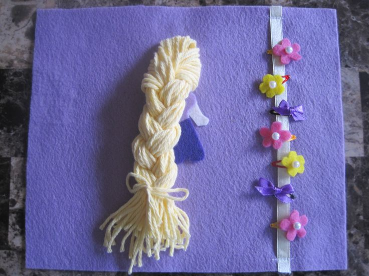 Disney Princess Inspired Quiet Book: Tangled Hair Page Pattern and ...