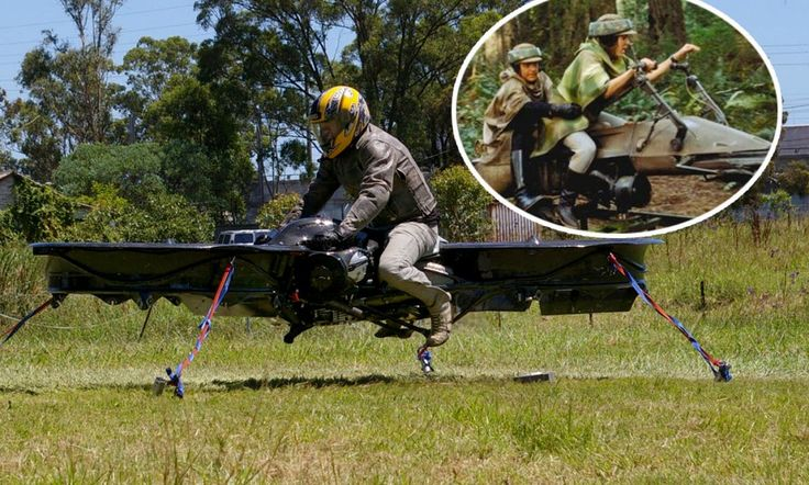 World's first flying motorbike Helicopter pilot invents
