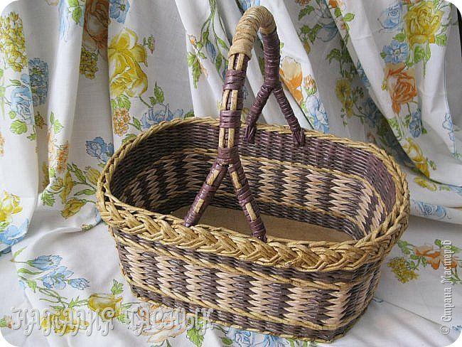 Поделка изделие Плетение Мои старые работы по плетению Часть 3 Бумага Трубочки бумажные фото 9