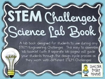 STEM Engineering Challenge Projects ~ Student LAB Book for any STEM Challenge  $