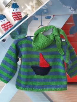 Pulli, Halstuch und Fingerpuppen, 6736 - Gratisanleitung: Sie sind auf der Suche nach einem verspielten Design für Ihren kleinen Liebling? Dann sind dieser Pullover mit Halstuch und die kleinen Fingerpuppen vielleicht das passende Projekt für Sie!