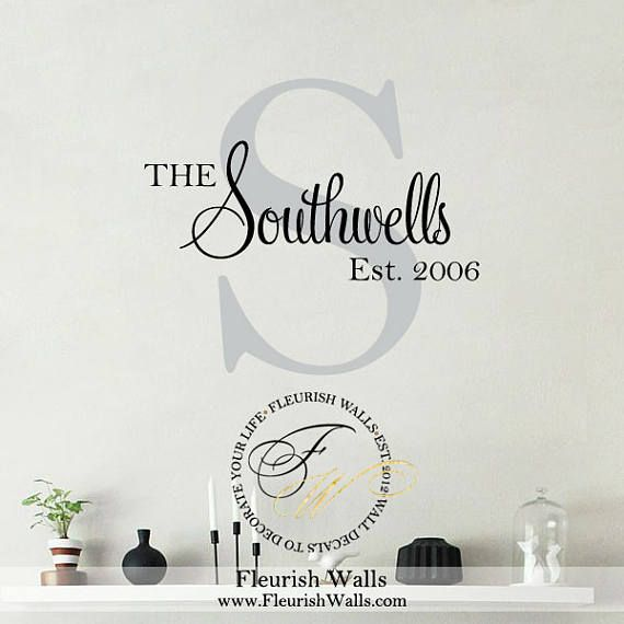 Last Name Decal  Personalized Wall Decal with Family Name