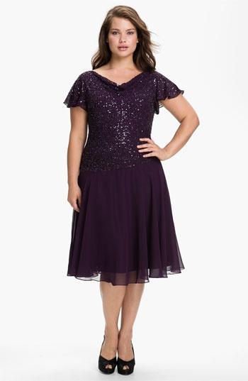 J Kara Short Embellished Mock Two Piece Dress (Plus) available at #Nordstrom