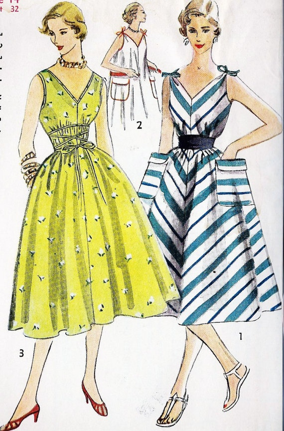 1950s Chemise Dress Simple to Make Summer Dress find more women fashion ideas on www.misspool.com