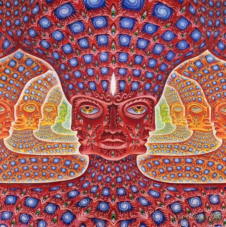 Oh...  e x p a n d i n g awareness of all layers and all realms of self. Thanks Alex Grey / Sacred Geometry <3