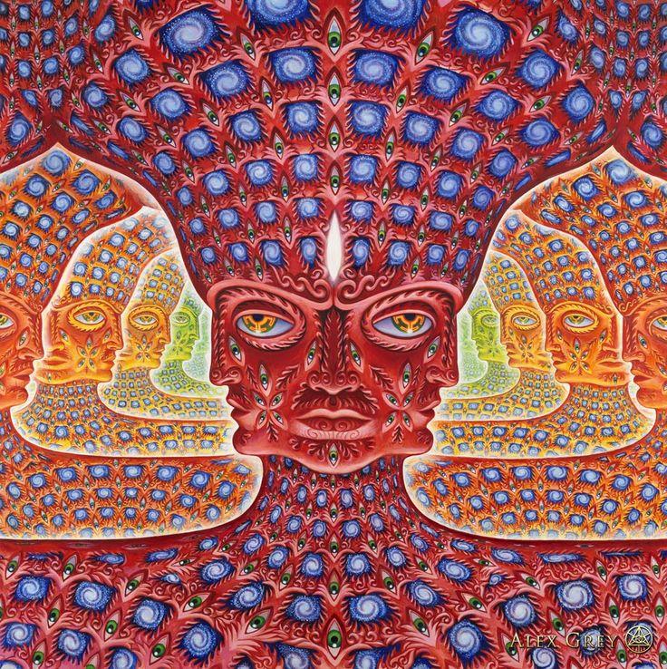 Oh...  e x p a n d i n g awareness of all layers and all realms of self. Thanks Alex Grey / Sacred Geometry <3
