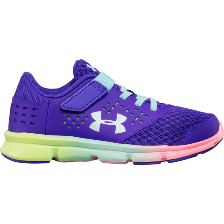 Under Armour Kids' Preschool GPS Rave RN AC Prism Running Shoes, Girl's, Purple
