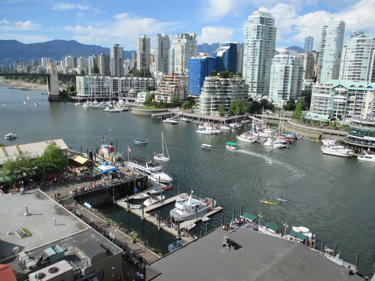 A View from the Granville bridge, Vancouver, BC, Canada Day, Summer