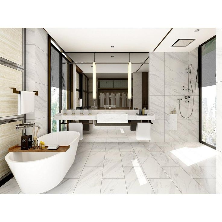 Volakas Plus Polished Porcelain Tile | Caplin St ...
