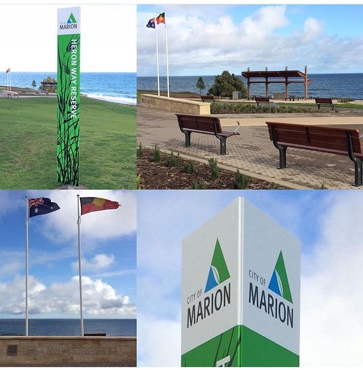 A little shape goes a long way with 40 new triangular City of Marion Parks & Reserve signs. Heron Way Reserve Hallett Cove, well worth a visit.