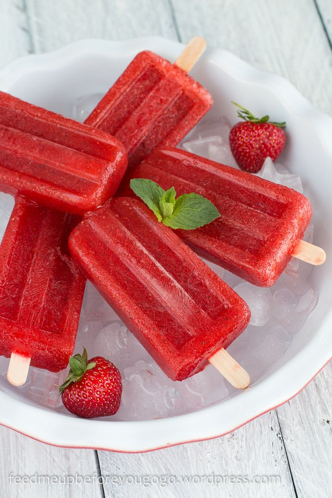 Strawberry Mojito Popsicles // feed me up before you go-go