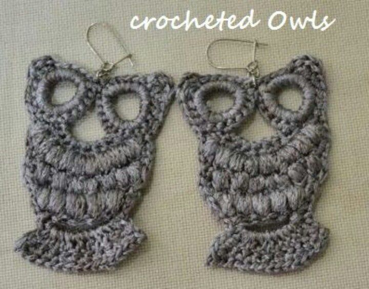 Easy+Crochet+Earrings | Seen on Plaza Stark Knits and Crochet page on facebook