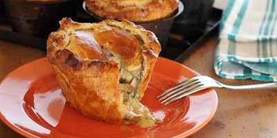 Try this Country Chicken and Mushroom Pies recipe by Chef Maggie Beer.