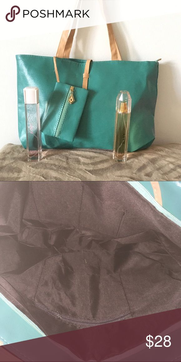 Green Tote Bag Set Tote Bag Set with 2 perfume Version of Burberry Body and Gucci Bags Totes