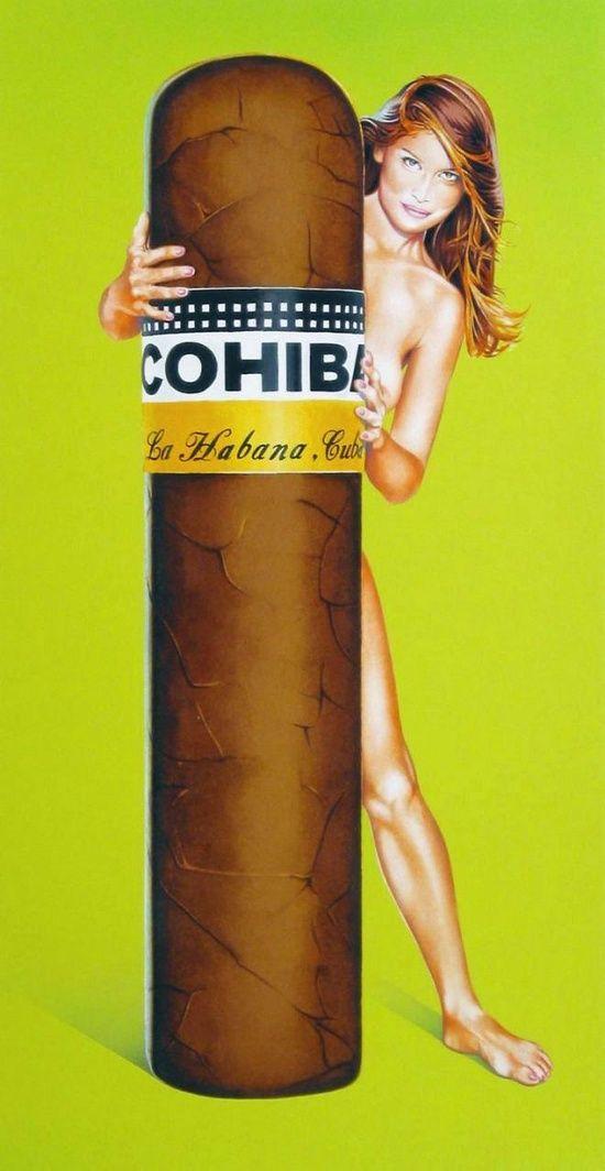 Cohiba cigar advertisement  Tolle Geschenkideen mit Zigarren findest du unter http://www.dona-glassy.de/Geschenke-mit-Zigarre:::64.html